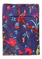 5/10 Yard Hand Block Print Handmade Bird Indian Fabric Natural Jaipuri Throw