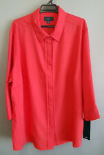 BNWT Ladies Sz 24 NNT Brand Watermelon Roll Up Sleeve Style Uniform Shirt