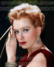 DEBORA KERR WITH BEADED JEWELRY 8X10 BEAUTIFUL COLOR PHOTO BY CHIP SPRINGER