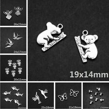 Lots Tibetan Silver Metal Charms Loose Spacer Beads Wholesale Jewelry Making