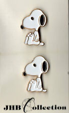 4 JHB Collections Snoopy Peanuts Character Metal Buttons on Cards nov0002