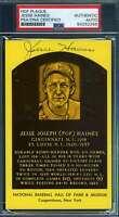 Jesse Haines PSA DNA Coa Autograph Hand Signed Gold HOF Plaque Postcard