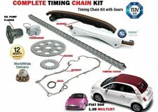 Per FIAT 500 500 C 1.3D Multifiamme 2007 -- > Timing CAM CHAIN Kit Set Con Flangia Olio
