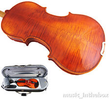 Good Quality 3/4 Flamed Back Violin+Octagonal Stick Bow+Rosin+Moon Case+String