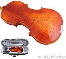 Good Quality 3/4 Flamed Back Violin+Octagonal Stick Bow+Rosin+Moon Case+String