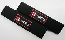 1 Pair x Seat belt Shoulder Pads Cover / Resident Evil Umbrella Corporation II B
