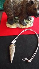 ARROWHEAD NECKLACE :  Real Stone, Hand Crafted  ( T )  Large stone / nice