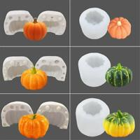 3D Halloween Pumpkin Silicone Fondant Mold Cake Chocolate Sugarcraft Decor Mould
