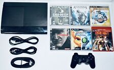 Sony PS3 500 GB Super Slim Console Bundle 6 Games + 1 Controller PlayStation 3