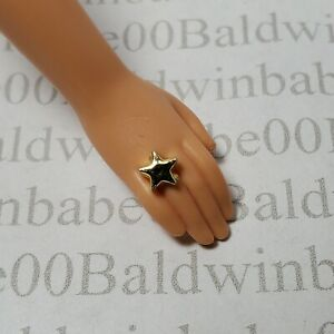 JEWELRY ~ MATTEL BARBIE DOLL HOLLYWOOD HAIR GOLD STAR PLASTIC RING ACCESSORY