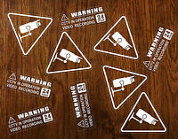 10 Warning Transparent Stickers CCTV Video Recording Home Car Vehicle Safety +