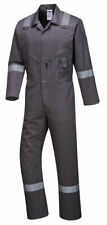 Portwest C814 Iona Cotton Heavy Duty Work Overalls with Reflective Safety Tape