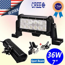 """7"""" In 36W CREE LED Work light Bar Flood Offroad ATV SUV Driving Jeep Pick-up 4x4"""