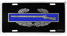 US ARMY COMBAT INFANTRY BADGE CIB METAL LICENSE PLATE - MADE IN THE USA!