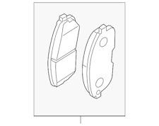 OEM NEW Front Brake Pads - Nissan Altima Cube Maxima Sentra Versa - D1060-EM30C