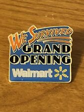 Rare Walmart Lapel Pin We Survived Grand Opening Spark Wal-mart Pinback