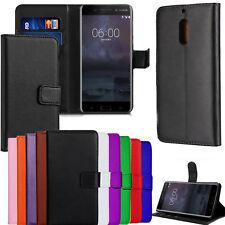Per NOKIA LUMIA 640 5 6.1 8.1 portafoglio di pelle stile proteggere TELEFONO BOOK CUSTODIA COVER