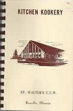 * ROSELLE IL VINTAGE ST WALTER'S CATHOLIC CHURCH CCW COOK BOOK * KITCHEN KOOKERY