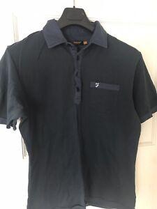 farah polo shirt large Mod