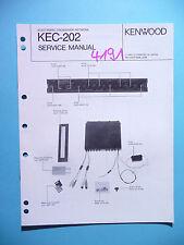 Manuel de reparation pour Kenwood kec-202, original