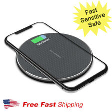 10W Qi Wireless Charger Charging Pad for iPhone Samsung Galaxy Google LG Nokia