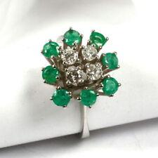 Natürliche Smaragd 17,5 mm Ø) von (Echtschmuck