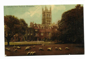 Gloucester, the Cathedral from the Paddock; 1908; 312 duplex to Hereford