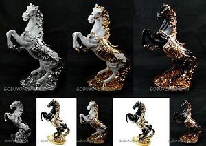 LARGE Italian Luxury Horse Ornament white Silver Black Romany Ceramic Home Gift