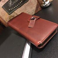 Urban Executive Genuine Leather Wallet Original Case Apple iPhone 7 Cognac