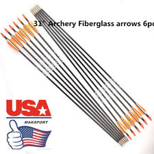 USA 6pcs Fiberglass Arrows Target Practice Archery SPort  arrow Target hunting