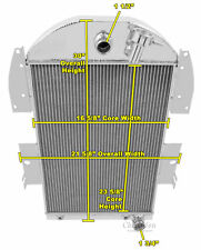 3 Row All Aluminum Performance Radiator For 1934 - 36 Chevy Truck V8 Conv