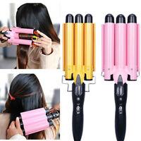 Beauty 3 Barrel Triple Barrel Ceramic Hair Curling Iron Deep Waver Curler Tool