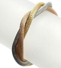 3 strand of twisted gold plated rope bracelet BRL220004