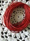 Waxed Cotton Cord 5 Metres Red 1 Mm Thick DIY Necklace Jewellery Aus seller