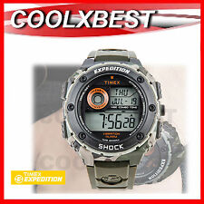 NEW TIMEX EXPEDITION VIBE ALARM DIGITAL CHRONOGRAPH SPORTS WATCH 200M SHOCK RES.
