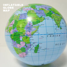 16 inch Earth Beach Ball Geography World Map Globe Inflatable Educational Toy