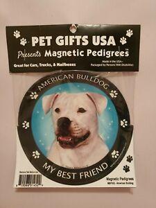 Pet Gifts USA Magnetic Pedigrees Dog Magnet - American Bulldog My Best Friend