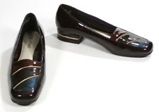 New Easy Street Purple Multi Patent Leather Flat Heel Shoes Loafers Size 7 M