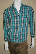 OXBOW Garçon 14 ans superbe chemise manches longues carreaux bleu rouge shirt