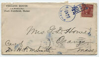 1909 Phair ME purple doane cancel type 1 on cover [y3950]