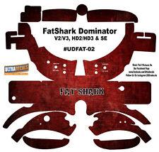 Fat Shark Dominator V2 V3 HD2 HD3 Skin Wrap Decal FatShark Goggle Red Grunge