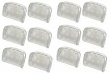 Dozen Pack Semi Transparent White Butterfly Cosmetic Makeup Bags #32683-D