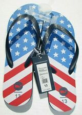 4th of July Flip Flops Men's size 12.5, 13 Blue red white Summer Vineyard Vi New