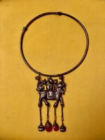 Collect Chinese Old  Silver Carve Man Ride Lion   of Pendant Necklace