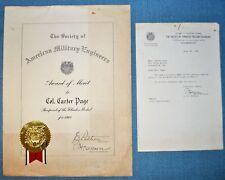 American Military Engineers Award - 1961, Col. Carter Page
