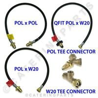 LPG BOTTLE CONNECTING HOSES AND CONNECTOR FITTINGS PIECES GAS LP HIGH PRESSURE