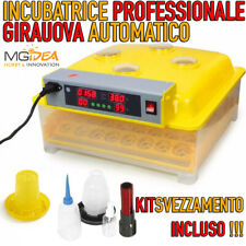 INCUBATRICE 48 UOVA PROFESSIONALE AUTOMATICA GIRAUOVA DISPLAY LCD + KIT NASCITA