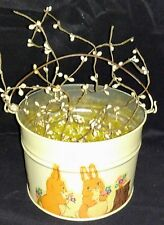 Vintage Easter Pail-Metal, Primitive Decor