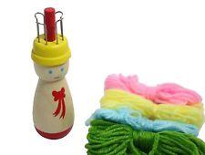 Children's Wood Spool Knitter (French knitter) Wooden Knitting Doll Corker