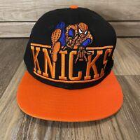 New Era 9Fifty Marvel Spiderman New York Knicks Hat Cap Snapback Black Orange